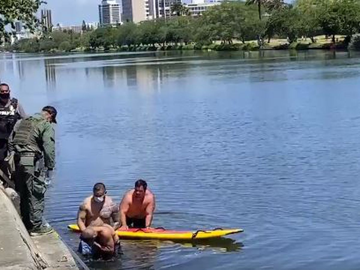 Police capture man who spent hours in Ala Wai Canal waters in bid to evade officers