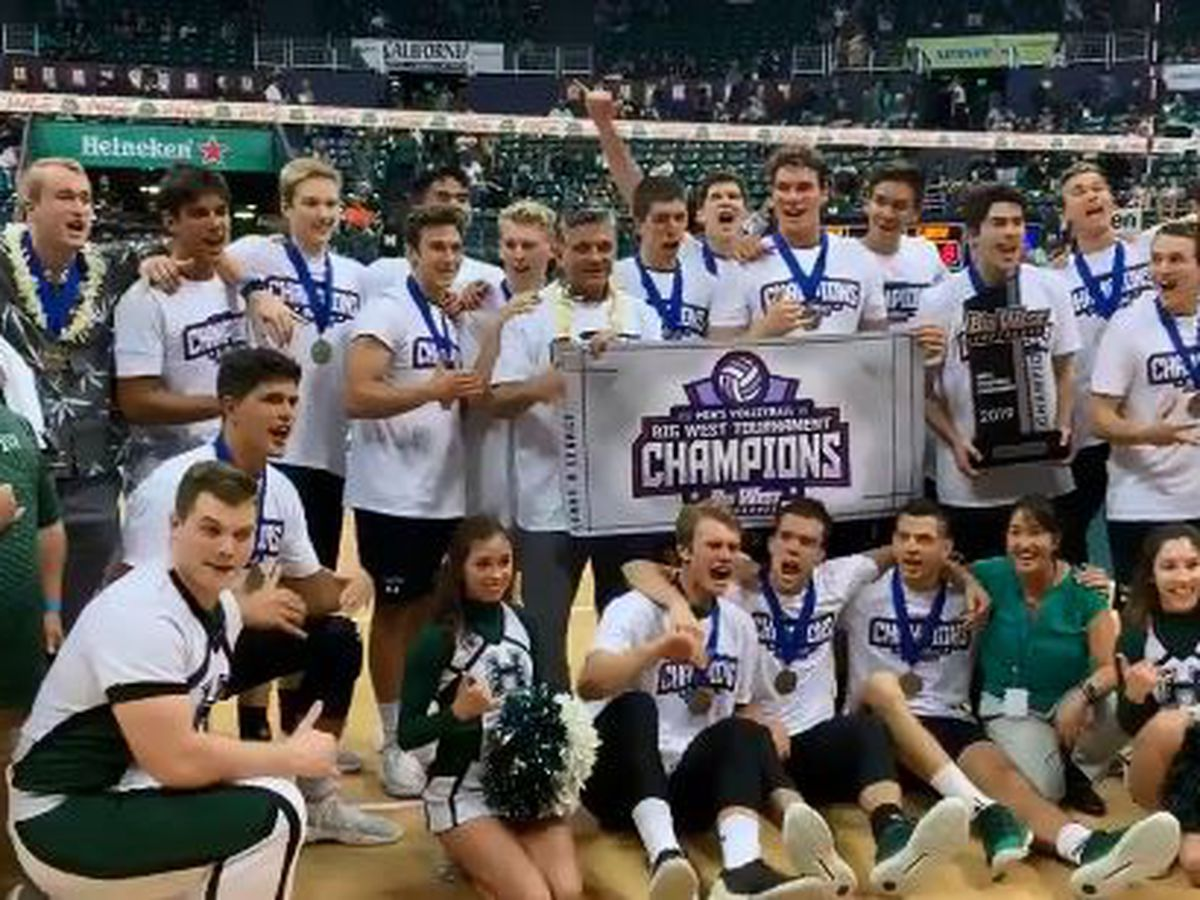 Hawaii wins first conference title in program history in five-set classic over Long Beach State