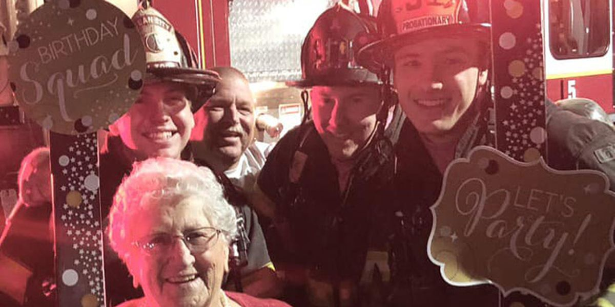 Woman's 90 birthday candles set off fire alarm