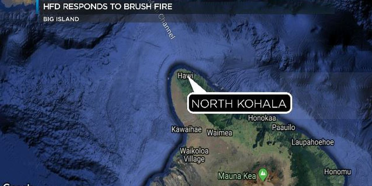 Firefighters responding to brush fire in North Kohala