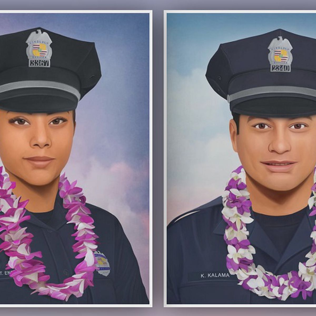 Philadelphia-based artist shares touching tribute to 2 fallen Honolulu police officers