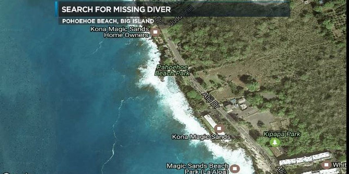 Rescue crews searching for missing diver off Big Island's Pahoehoe Beach