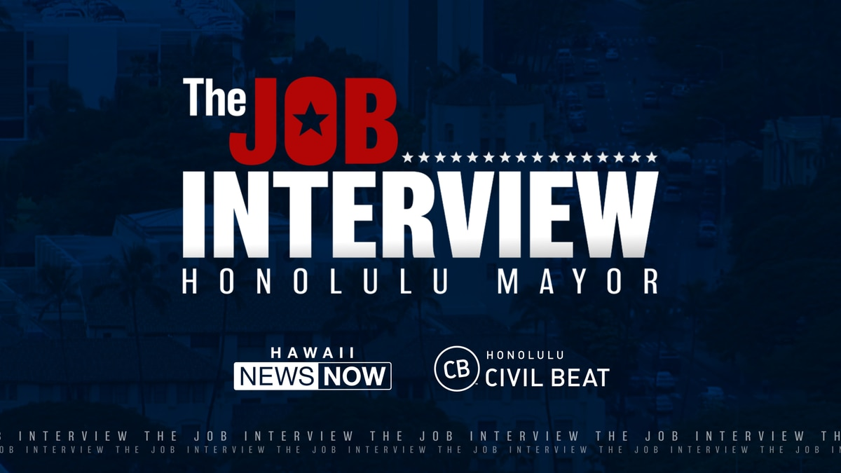 Top contenders for Honolulu mayor make their case in 'The Job Interview'