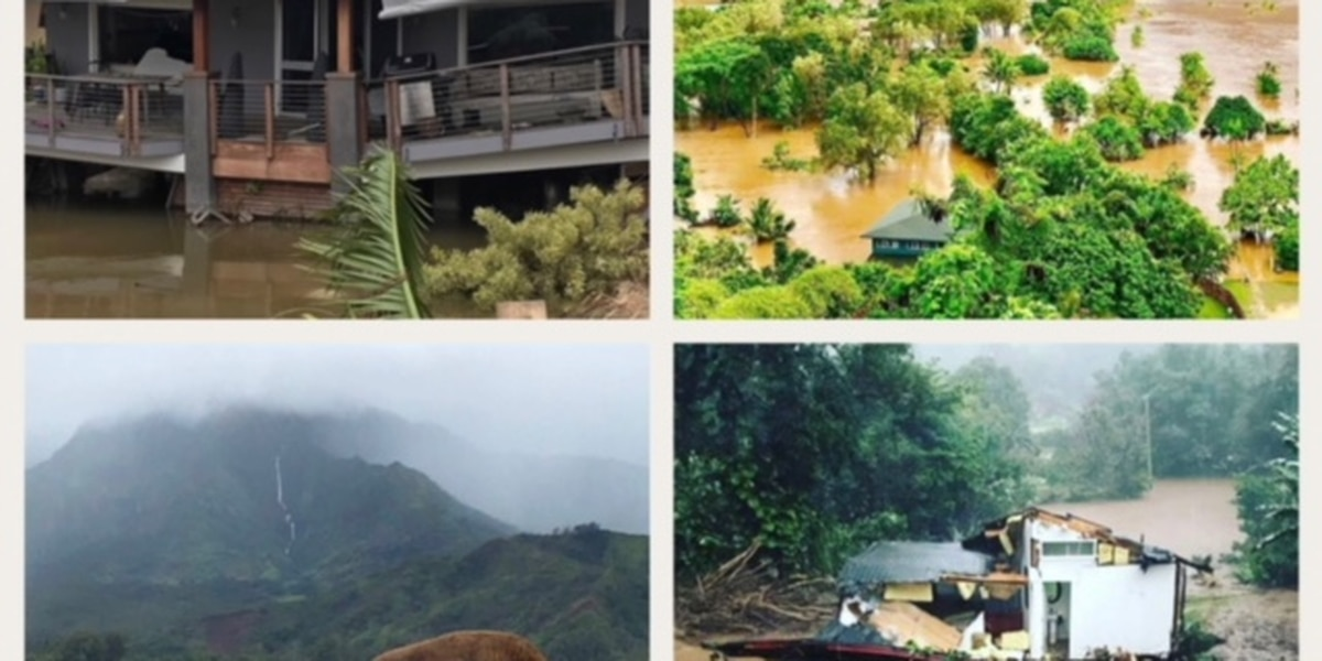 As floodwaters rose and fell, Kauai residents connected on social media