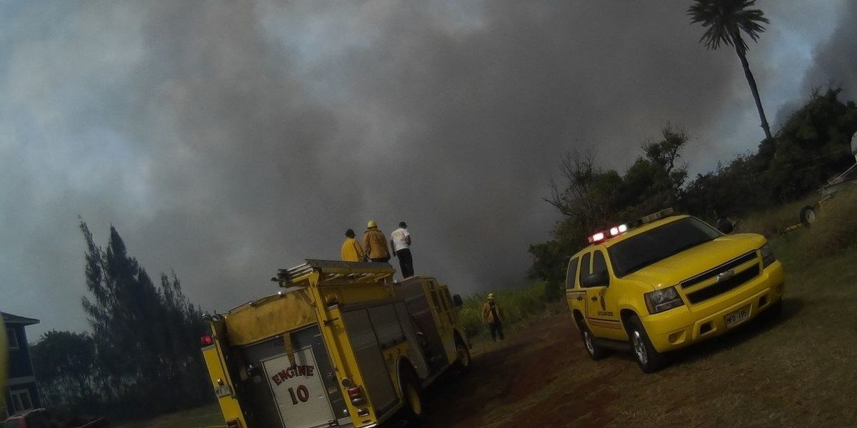 Maui brush fire burns 80 acres, threatens homes before being put out