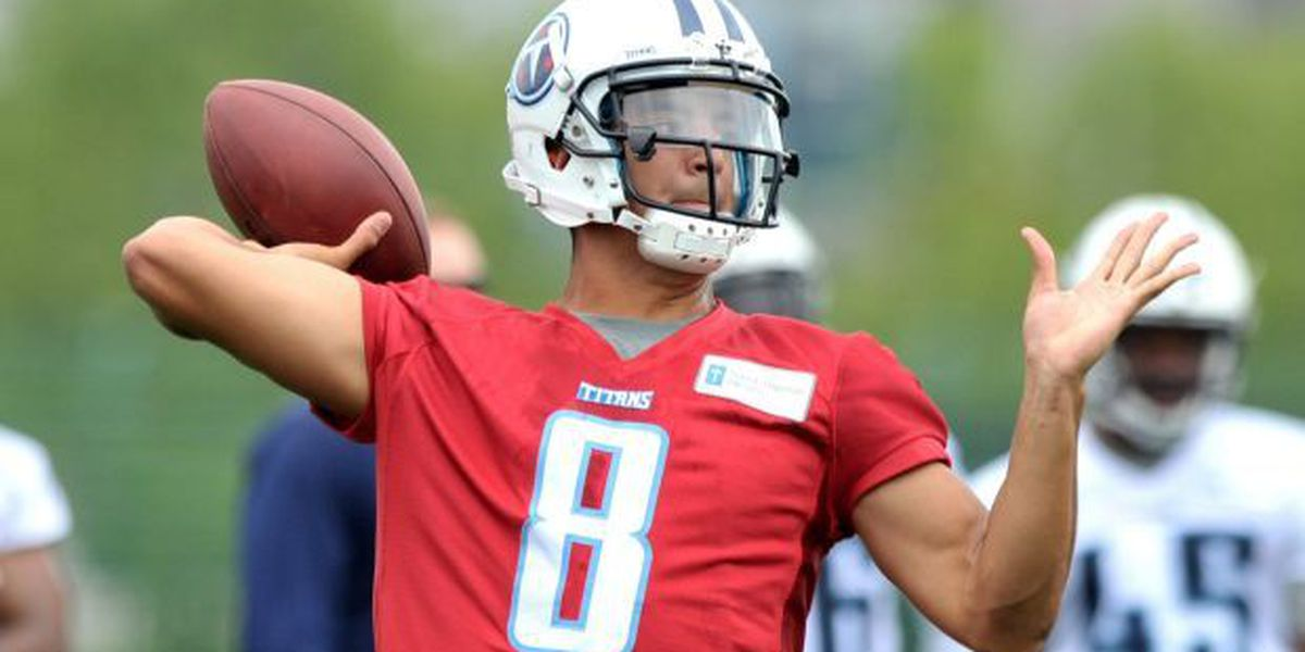 Marcus Mariota getting comfortable with Titans offense in first OTA