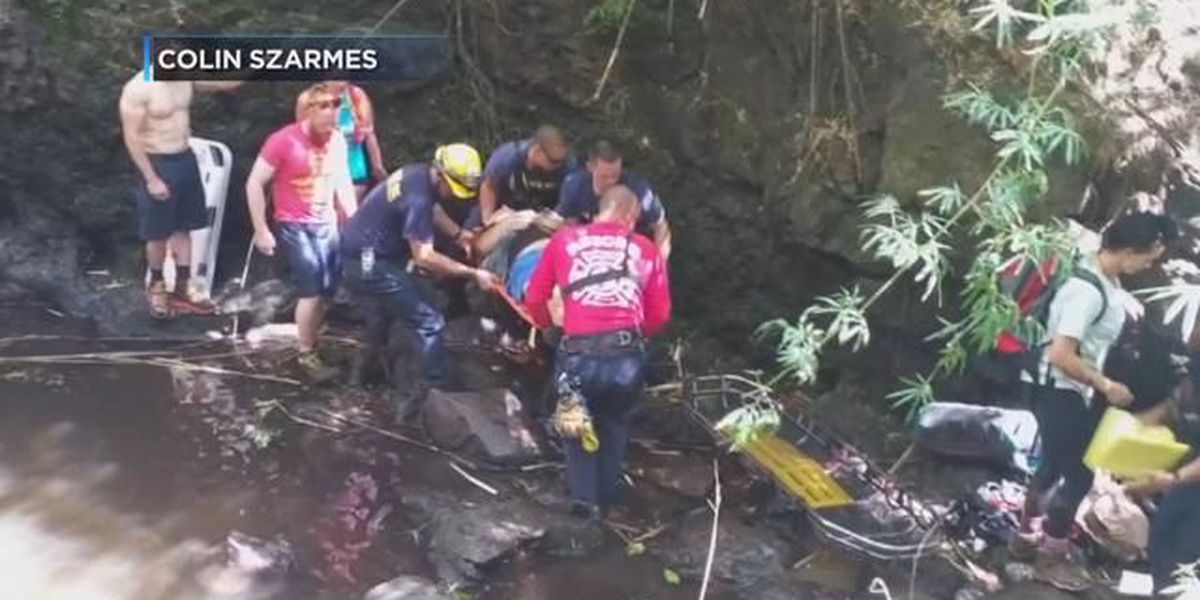 Man airlifted after falling 30 feet while hiking Kaau Crater