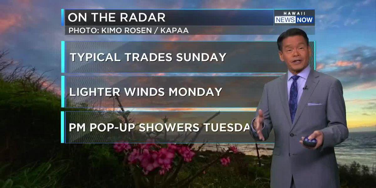 Forecast: Breezy trades to lighten up soon