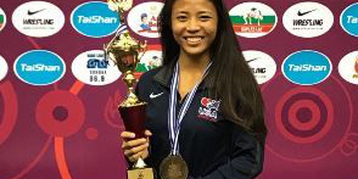 Hawaii's Ikei wins gold at United World Wrestling Cadet Pan American Championships