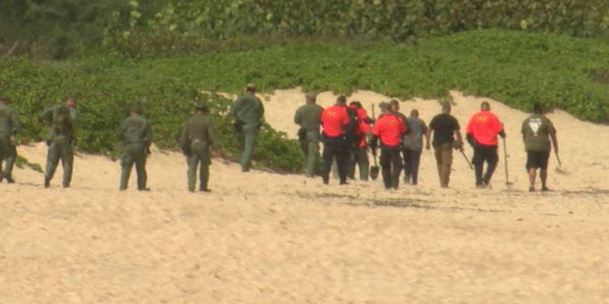 Police dig up a section of beach after tip about missing toddler's remains
