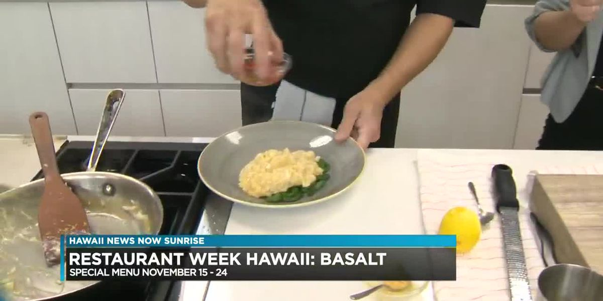 Basalt offers 3 course dinner for restaurant week including uni risotto