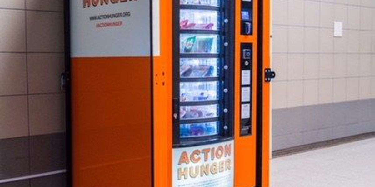 How a vending machine packed with food and toiletries could help the homeless
