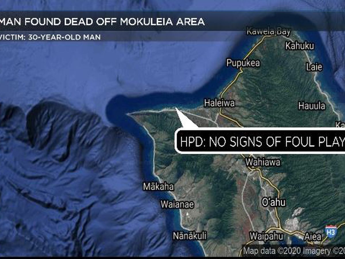 Authorities investigating after man found dead in waters off Mokuleia