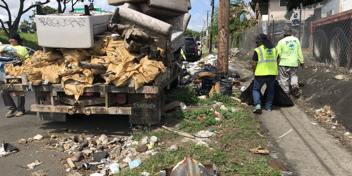 A major mess on the side of a Kalihi street finally cleared