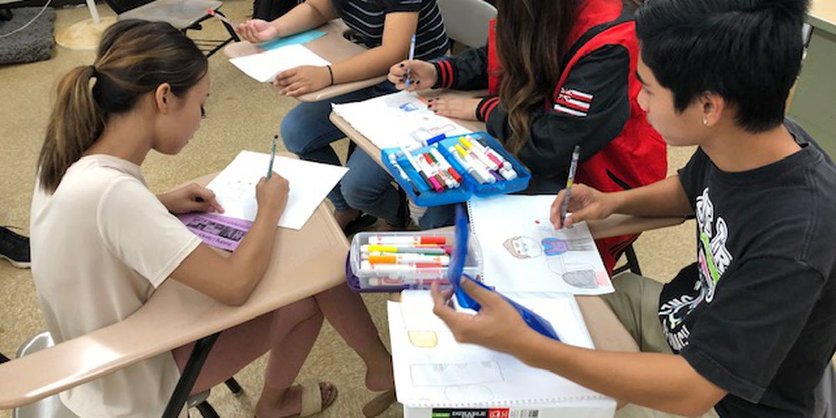 At Waipahu High, students are writing books to inspire younger kids in their communities to read