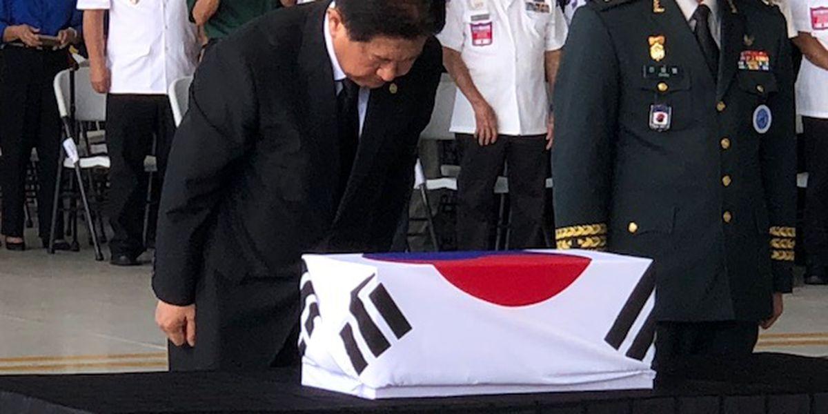 In repatriation ceremony, US returns remains of soldiers killed in Korean War to SKorea