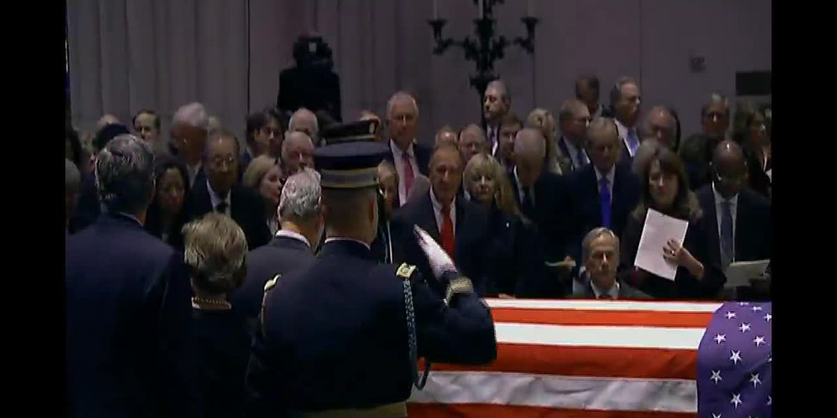 President George HW Bush laid to rest in Texas