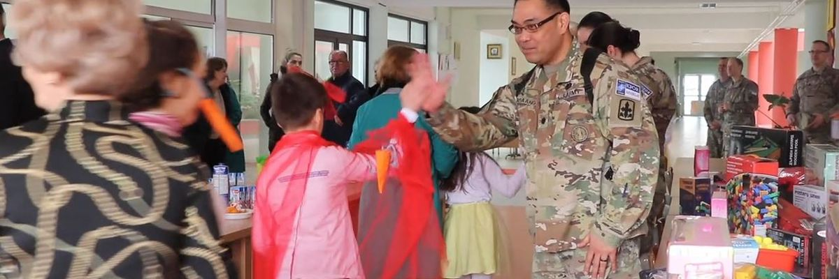 Hawaii Army National Guard spreads joy to kids in Kosovo