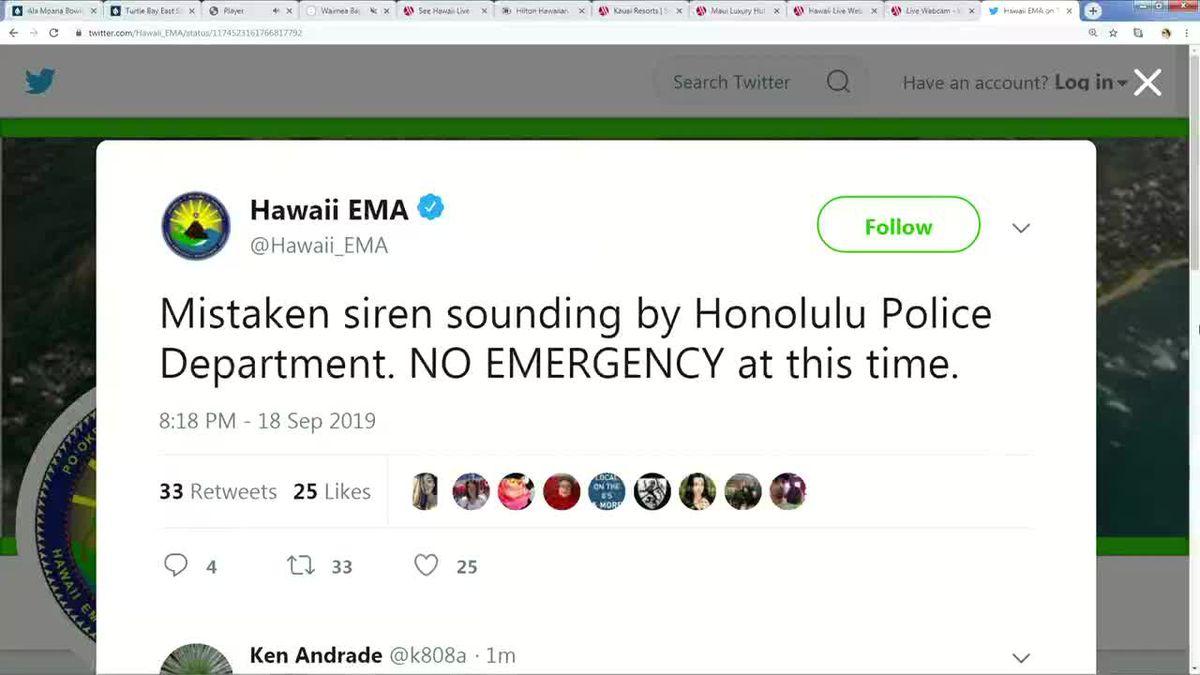 Emergency sirens islandwide accidentally set off during police training exercise