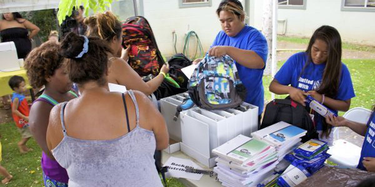Local charity preps keiki for school