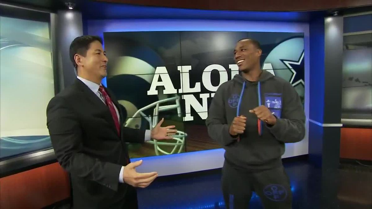 Rams star talks about season ahead and tries to do traffic report with Lacy