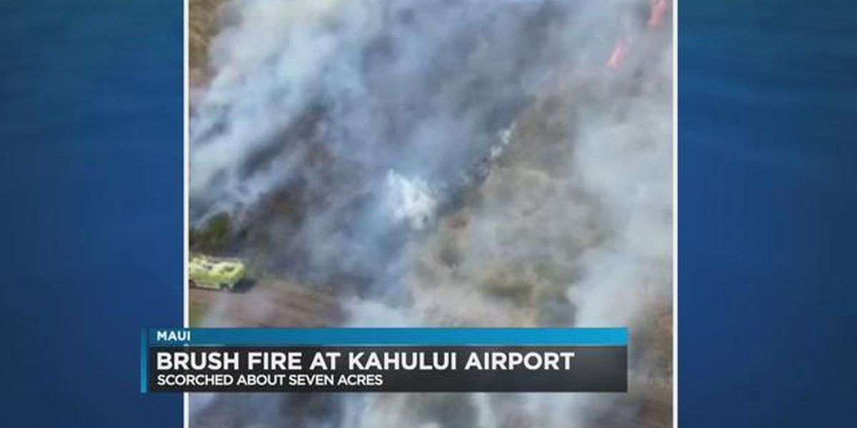 2 treated for asthma due to heavy smoke from brush fire near Kahului Airport