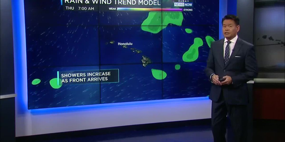 Forecast: Lighter winds, increased chance of showers ahead