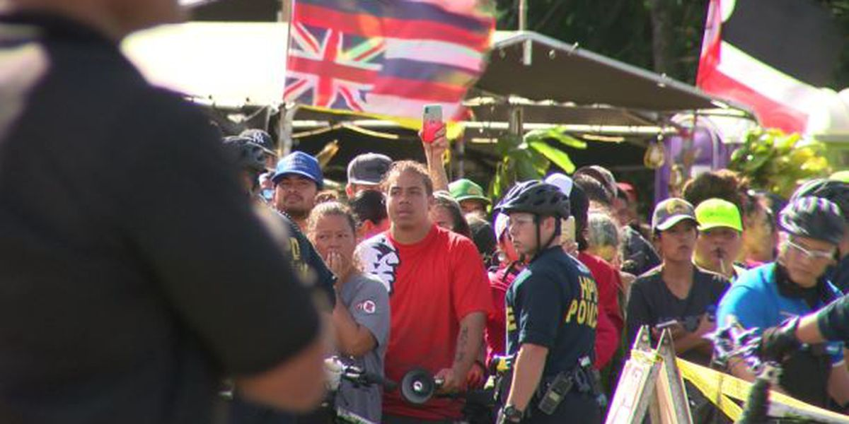 55 protesters arrested as wind farm convoy completes journey to Kahuku