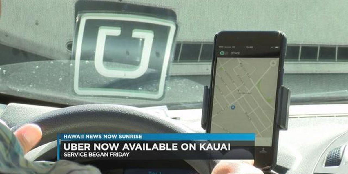 Uber launches on Kauai and Big Island
