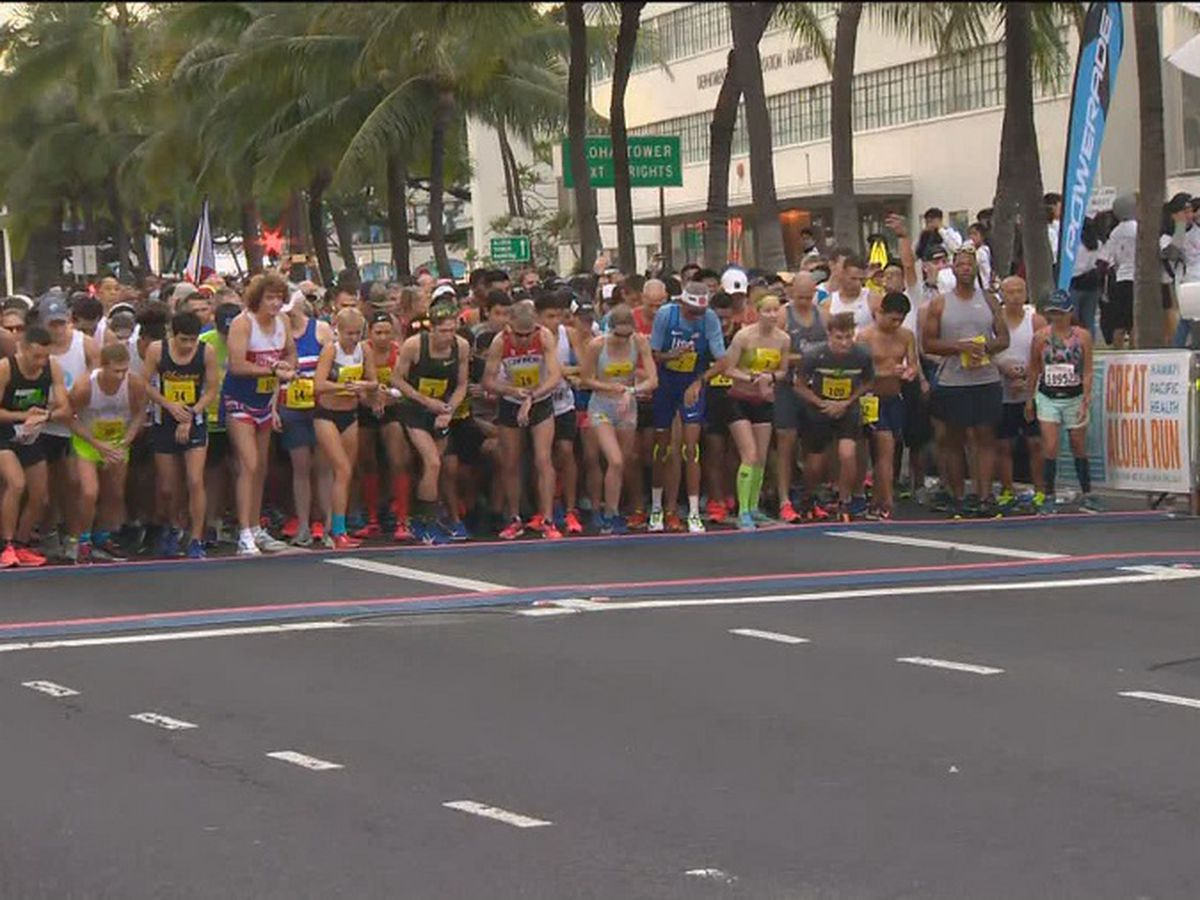 Tens of thousands spend Presidents Day participating in annual Great Aloha Run