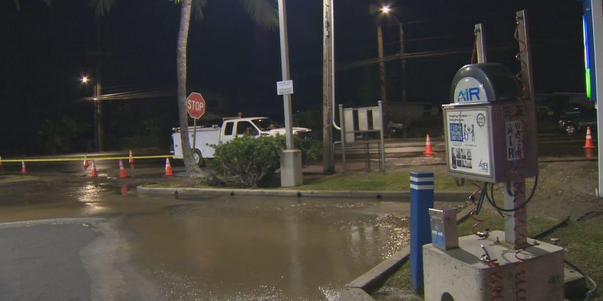Crews repairing 12-inch water main break in Waianae