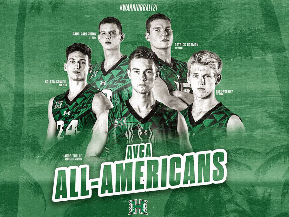 UH men's volleyball get five 'Bows named to All-America teams