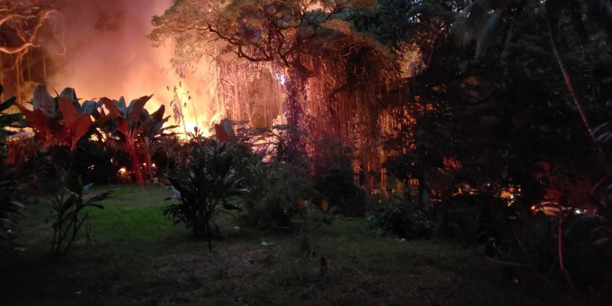 1 firefighter suffers lacerations to his hand while battling a Maui structure fire