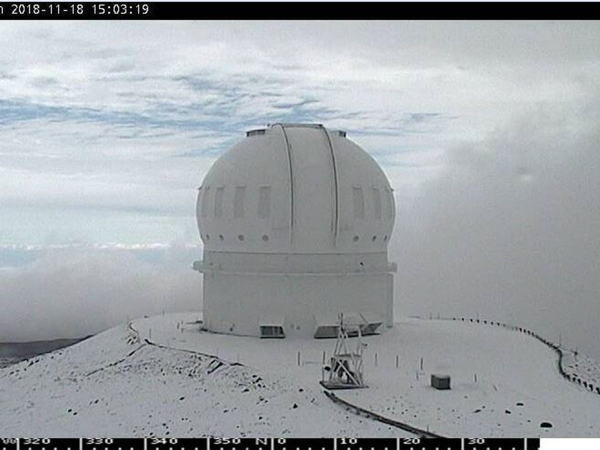 Dreaming of a white Christmas? Well, it's already snowing atop Mauna Kea
