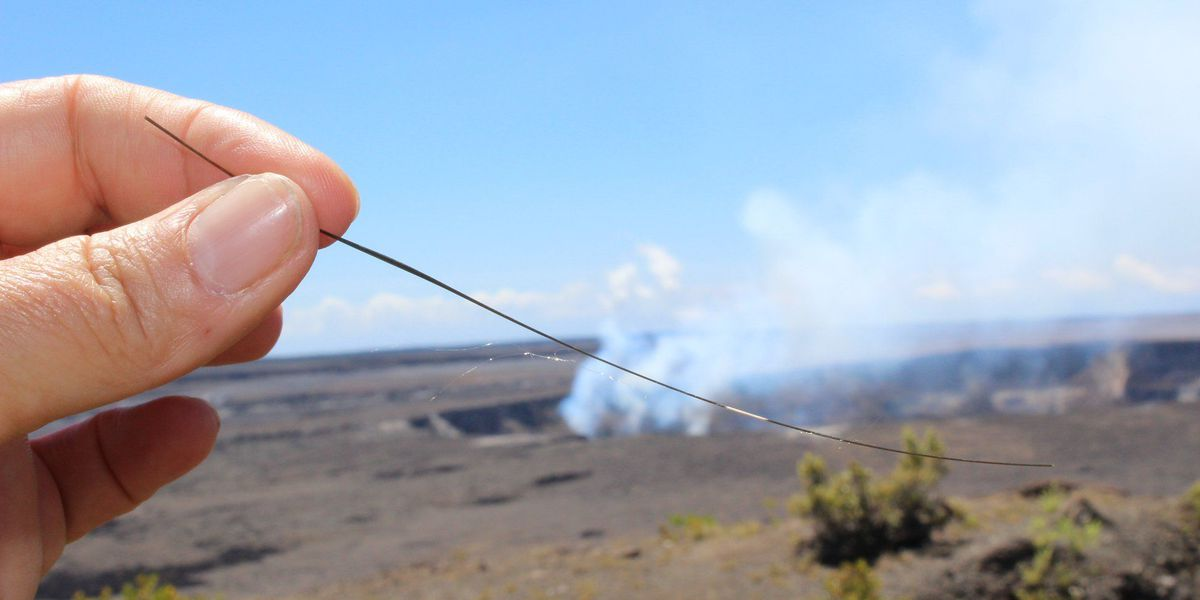 Pele's hair: An interesting sight, but officials say stay away