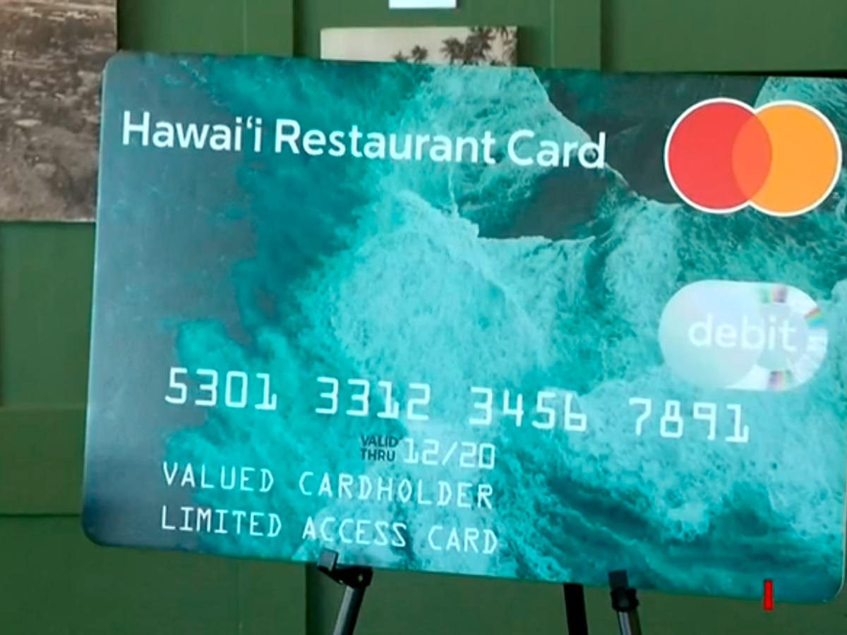 Safeguards in place, ensuring Hawaii's restaurant cards can only be used at restaurants