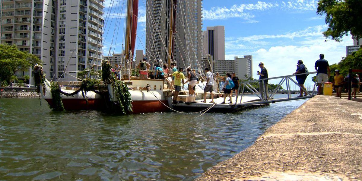 Hokulea sails into Ala Wai to mark final chapter of worldwide voyage