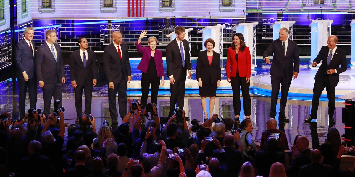 Democrats rail against economy-for-the-rich in first debate