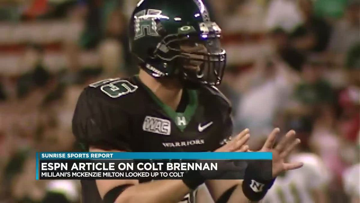 Sunrise Sports: Colt's impact beyond Hawaii, Local girl on SportsCenter's Top 10