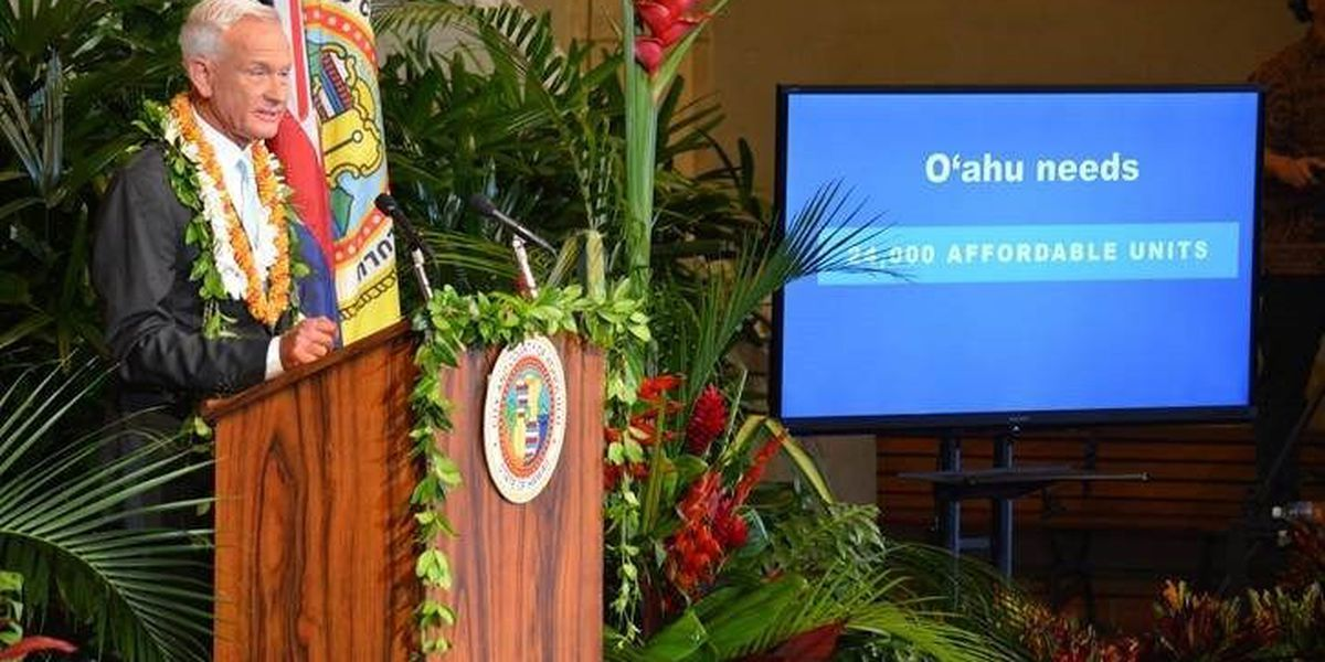Honolulu mayor discusses affordable housing, rail budget in sixth State of the City address