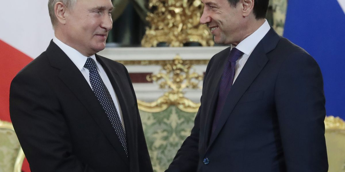 Russian, Italy vow to expand ties despite EU sanctions