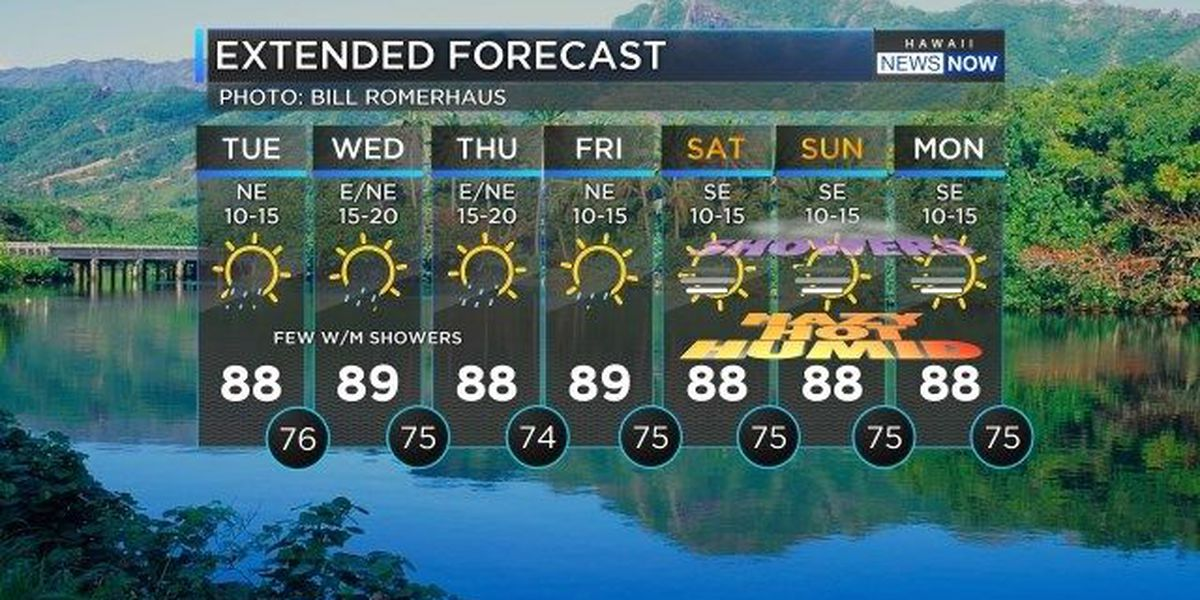 Forecast: Trade winds begin their comeback today!