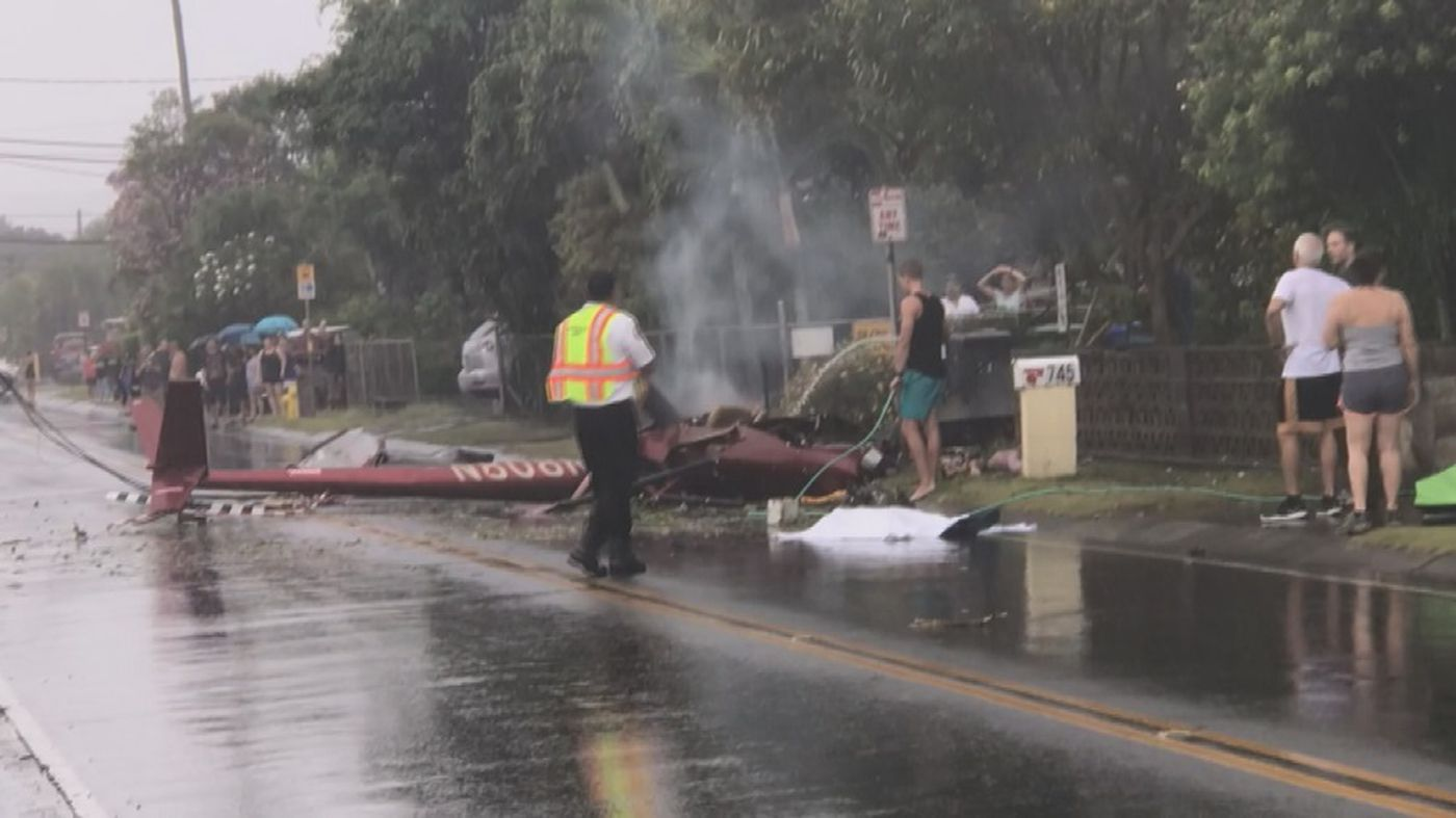 Authorities are responding to a helicopter crash in Kailua (Image: Adrian M. Kozuki)