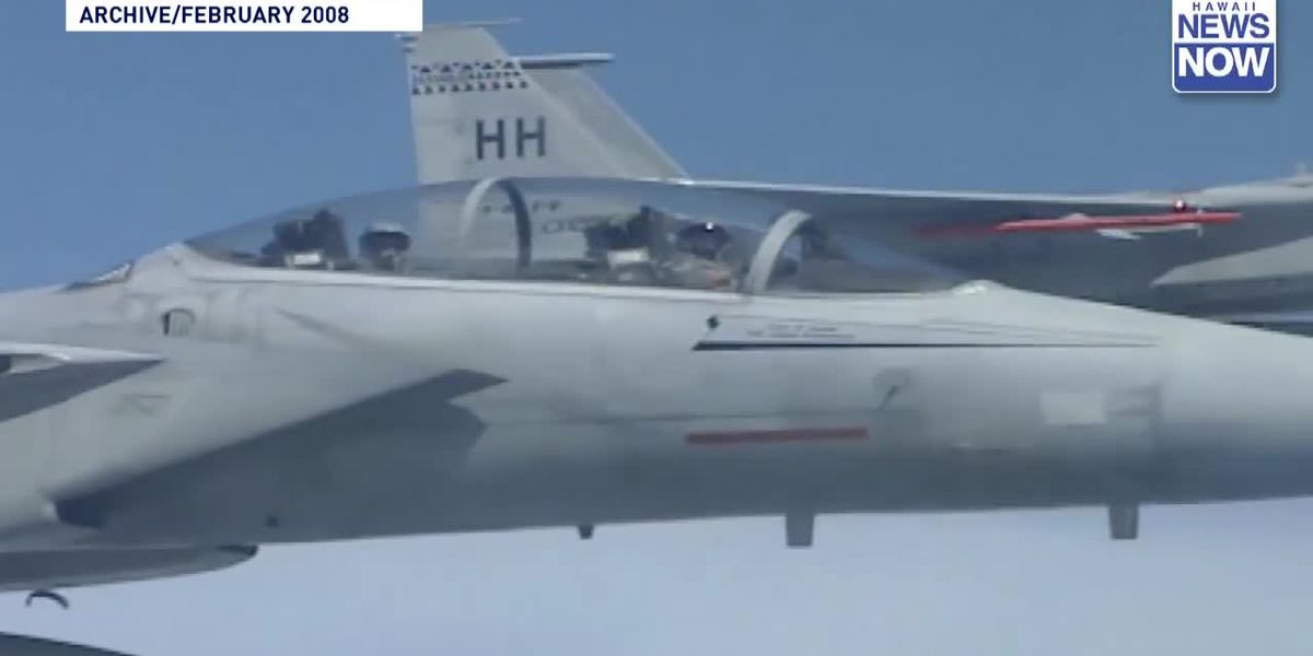 ARCHIVE: Pilot rescued from Hawaiian waters following 2008 fighter jet crash