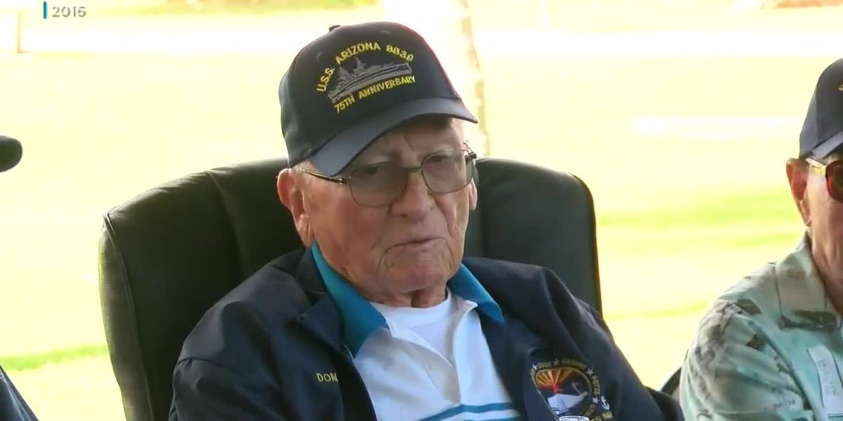 Flag over USS Arizona Memorial flies at half staff after passing of another WWII vet