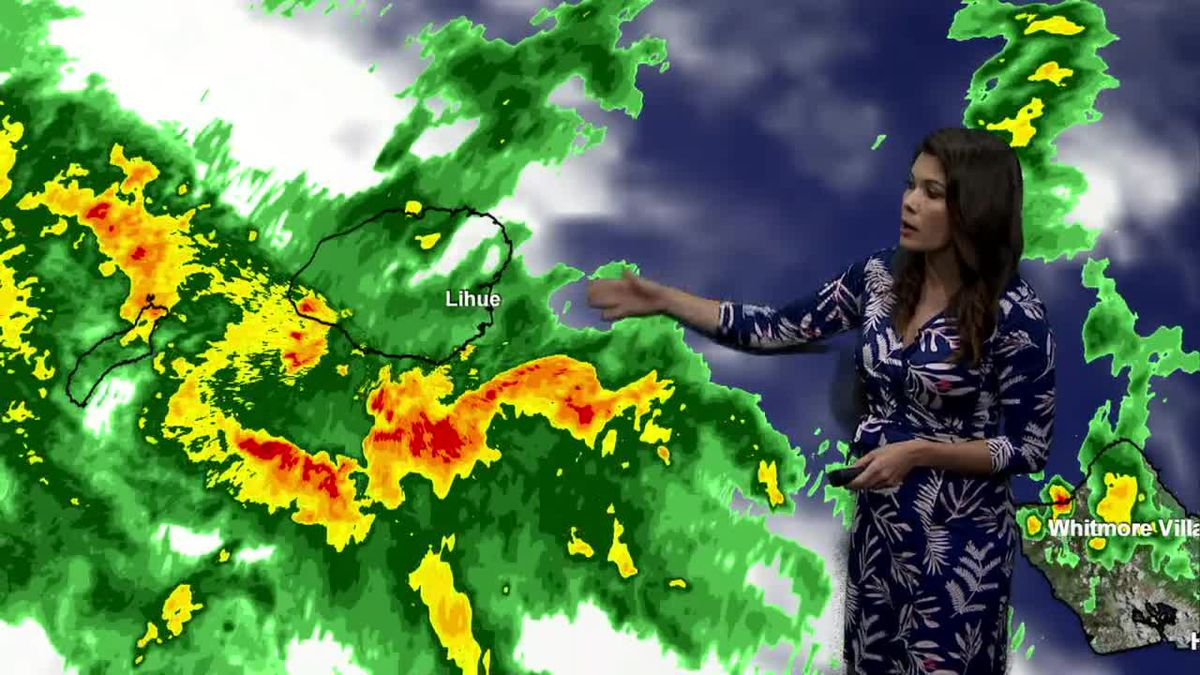 Deep tropical moisture continues to impact Kauai and then improving weather this weekend