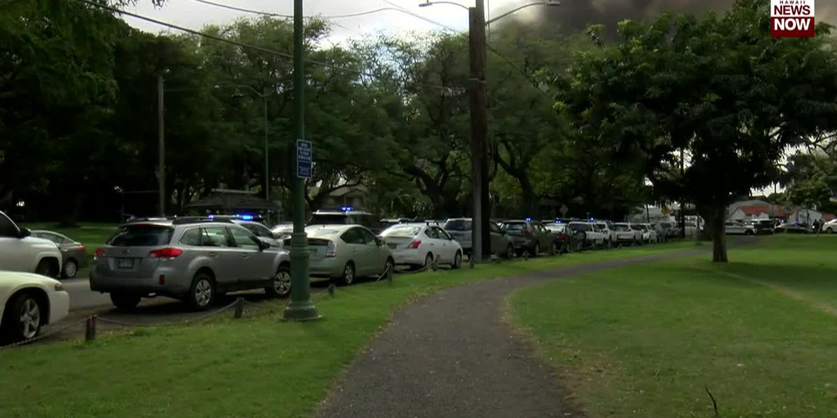 Smoke, flames seen at scene of double-fatal police shooting near Diamond Head