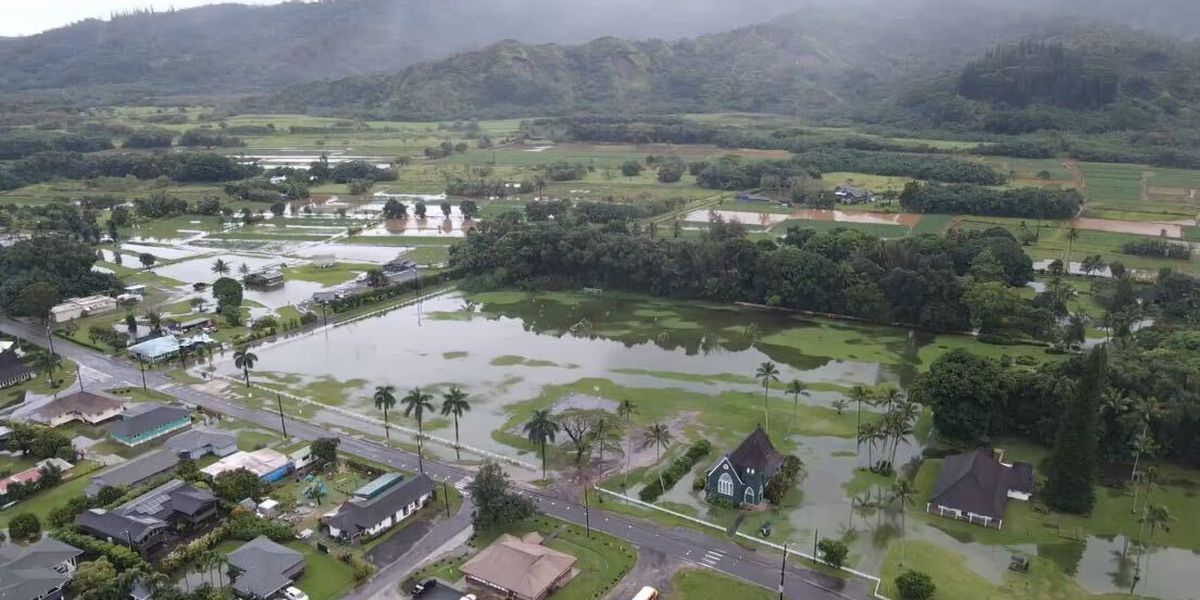 Heavy rain soaks Kauai, saturating grounds ahead of more possible wet weather