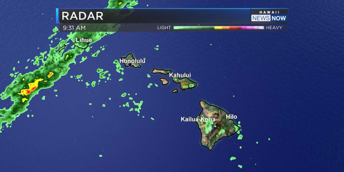 Forecast: Humid, with a chance of heavy rain for Kauai and maybe Oahu