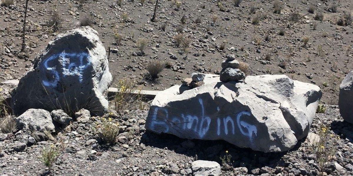 DLNR investigating graffiti found on Mauna Kea rocks